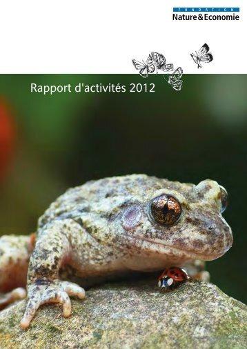 Rapport d'activités 2012 - Nature & Economie