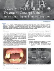 A Case Study:The All-on-4™ Treatment Concept Using - BioHorizons