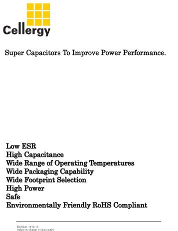 Cellergy Line Card - Mouser Electronics