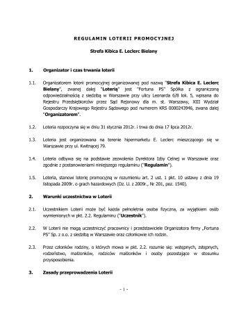 Regulamin loterii Strefa Kibica - Fortuna PS logo