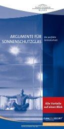 Argumente für SonnenSchutz glAS - Glas Herzog GmbH