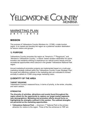 MARKETING PLAN - Montana Office of Tourism