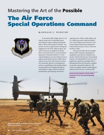 The Air Force Special Operations Command