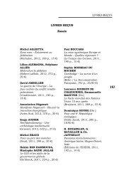 livres reçus Livres reçus essais - Recherches internationales