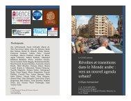 Révoltes et transitions dans le Monde arabe - Centre de Recherche ...