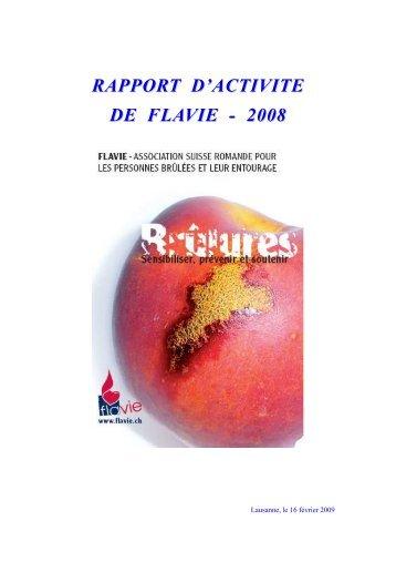 Rapport d'activité 2008 - Flavie: Association Suisse Romande pour ...