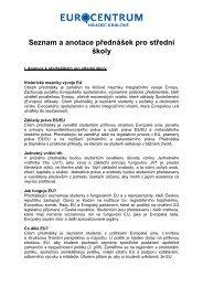 Seznam a anotace přednášek pro střední školy - word - Euroskop.cz