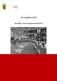BIJLAGEN - Jaarverslag - Gemeente Schiedam