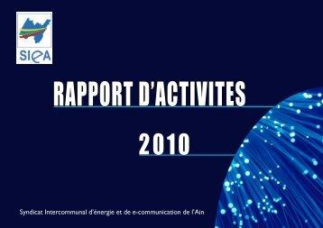 Rapport d'activités 2010 - SIEA