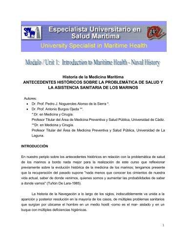 Historia de la Medicina Marítima ANTECEDENTES ... - SEMM