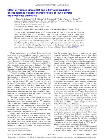Effect of vacuum ultraviolet and ultraviolet Irradiation on capacitance ...