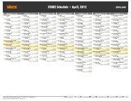 STARZ Schedule - April, 2012