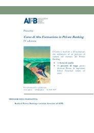 Corso di Alta Formazione in Private Banking