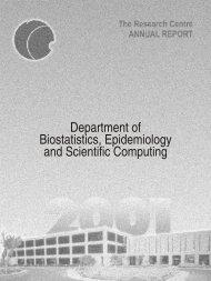 Department of Biostatistics, Epidemiology and Scientific Computing