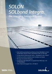 Solon SOLbond Integra Datenblatt - AEET Energy Group GmbH