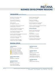 BUSINESS DEVELOPMENT REGIONS - Indiana Economic ...