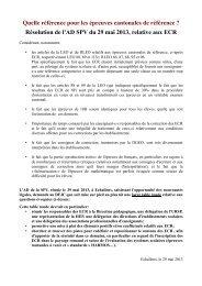 une résolution sur les ECR