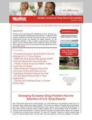 Medtox Journal on Drug Abuse Recognition