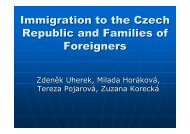 Immigration to the Czech Republic and Families of Foreigners