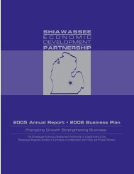 The Shiawassee Economic Development Partnership is a ...