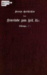 Kurze Geschichte der Evangelisch-Lutherischen ... - University Library