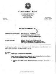 COUNTY OF EL PASO - epcounty.com
