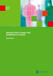 Minority Ethnic People with Disabilities in Ireland - Equality Authority