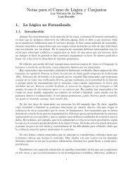 Notas para el Curso de Lógica y Conjuntos - Universidad del Cauca