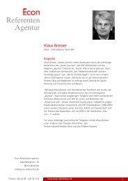 Klaus Bresser - Econ Referenten-Agentur
