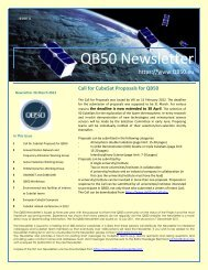 QB50 Newsletter Issue 3 - 26 March 2012