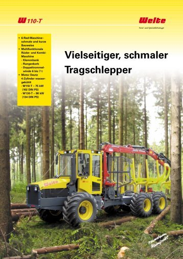 PDF Datenblatt Welte W110T Forwarder