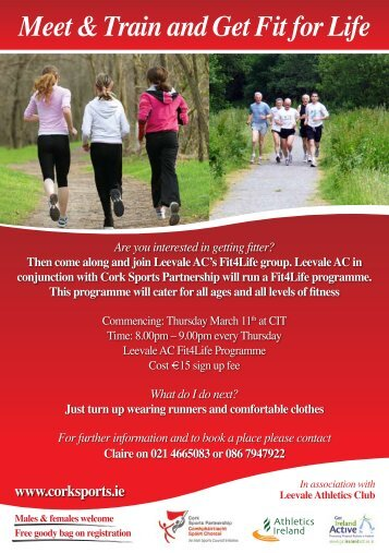 Meet & Train and Get Fit for Life - Cork Sports Partnership