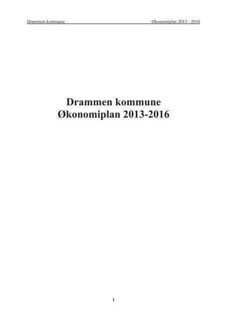 Drammen Kommune Aƒa Konomiplan 2013 2016