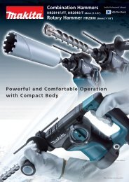 Powerful and Comfortable Operation with Compact Body ... - Makita