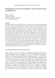 The Dualism of the Practical Reason: Some Interpretations and ...