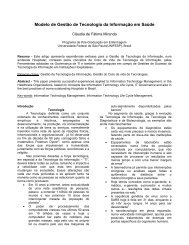 Modelo de Gestão de Tecnologia da Informação em Saúde - SBIS