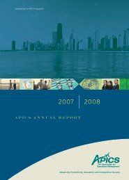 Apics Annual Report - APICS Toledo