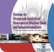 Seminar on Design and Analysis of Structures of Machine Tools and ...