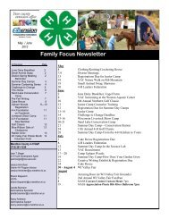 Family Focus Newsletter - Marathon County