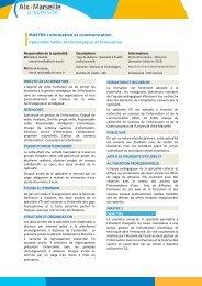 MASTER Information et communication Spécialité Veille ... - CRRM à
