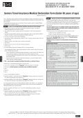 Seniors Travel Insurance Medical Declaration Form (Under 80 years ... - Page 2