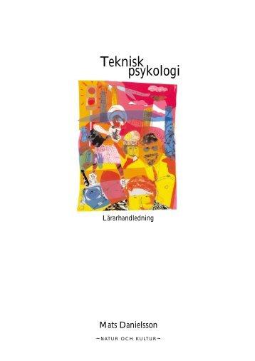 Lärarhandledning Teknisk psykologi (pdf) - Natur och Kultur