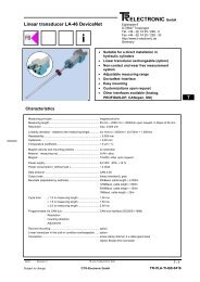 Linear transducer LA-46 DeviceNet - TR Electronic