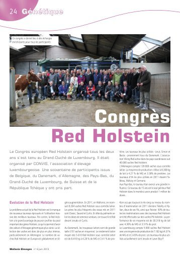 Congrès Red Holstein - AWE