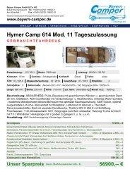 56900,-- € - Bayern-Camper
