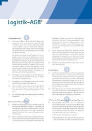 Logistik-AGB - Transportrecht