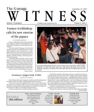 Issue 1 - Gonzaga University