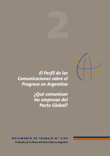 Documento de Trabajo Nº 2. - Pacto Global