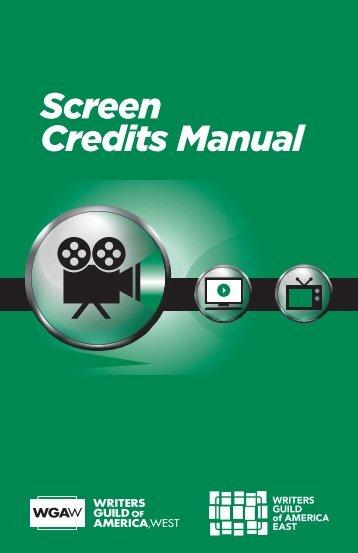 download screen credits manual