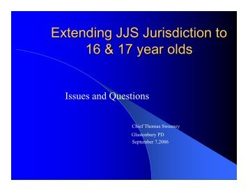 Extending JJS Jurisdiction to 16 & 17 year olds